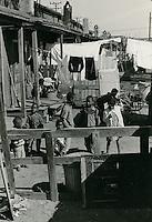 1966 October 21..Redevelopment.Bell-Diamond (A-1-3)..Shot of backyard between Halifax & Chesterfield.Just off Nelson St & Bainbridge Blvd...Sam McKay.NEG# SLM66-9-59.NRHA# 4240..