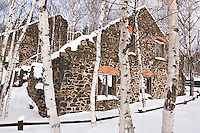 The ruins of the historic Delaware Copper Mine near Delaware Michigan on the Keweenaw Peninsula of Michigan's Upper Peninsula.
