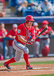 29 February 2016: Washington Nationals outfielder Matt den Dekker in action during an inter-squad pre-season Spring Training game at Space Coast Stadium in Viera, Florida. Mandatory Credit: Ed Wolfstein Photo *** RAW (NEF) Image File Available ***