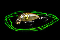 Sculpo crankbait by Molix shot taken in the studio with two lights an laser pen background