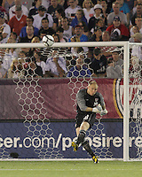 USA goalkeeper Brad Guzan (18). In the Send Off Series, the Czech Republic defeated the US men's national team, 4-2, at Rentschler Field in East Hartford, Connecticut, on May 25, 2010.
