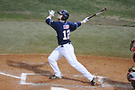 Ole Miss' Tanner Mathis (12) bats at Oxford-University Stadium in Oxford, Miss. on Wednesday, March 9, 2010.