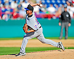 6 March 2010: New York Mets' pitcher Elmer Dessens in action during a Spring Training game against the Washington Nationals at Space Coast Stadium in Viera, Florida. The Mets defeated the Nationals 14-6 in Grapefruit League action. Mandatory Credit: Ed Wolfstein Photo