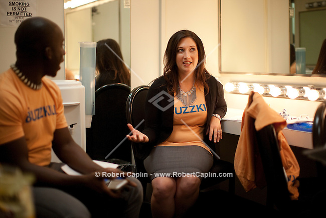 Randi Zuckerberg backstage at the 92nd Street Y prior to speaking on the topic of Malaria at a Social Good Summit &quot;Town Hall&quot; with Mandy Moore in New York.   ...Photo by Robert Caplin.