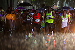 People attend the Mexico Athletic Marathon