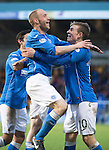 St Johnstone v Partick Thistle....17.01.15  SPFL<br /> Steven Anderson celebrates saints second goal with provider David Wotherspoon<br /> Picture by Graeme Hart.<br /> Copyright Perthshire Picture Agency<br /> Tel: 01738 623350  Mobile: 07990 594431