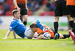 St Johnstone v Dundee United...19.04.14    SPFL<br /> Steven MacLean and John Rankin<br /> Picture by Graeme Hart.<br /> Copyright Perthshire Picture Agency<br /> Tel: 01738 623350  Mobile: 07990 594431