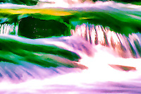 River Flow. Photograph with impressionist painting effect applied.