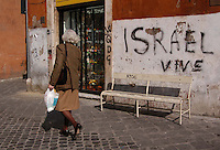 Roma, quartiere Ebraico. Rome, Jewish district. ..