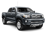 2010 Toyota Tacoma double cab pickup truck isolated on white background with clipping path