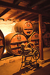 Chile Wine Country: Antique winemaking equipment at Undurraga Winery, Vina Undurraga, near Santiago..Photo #: ch437-33914..Photo copyright Lee Foster, 510-549-2202, www.fostertravel.com, lee@fostertravel.com.