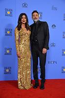 Priyanka Chopra &amp; Jeffrey Dean Morgan at the 74th Golden Globe Awards  at The Beverly Hilton Hotel, Los Angeles USA 8th January  2017<br /> Picture: Paul Smith/Featureflash/SilverHub 0208 004 5359 sales@silverhubmedia.com