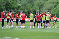 The Welsh player are given instructions from the coaching staff during the Wales Open Training Session on Wednesday 1st June 2016 at the Vale Resort, in the Vale of Glamorgan. <br /> <br /> <br /> Jeff Thomas Photography -  www.jaypics.photoshelter.com - <br /> e-mail swansea1001@hotmail.co.uk -<br /> Mob: 07837 386244 -