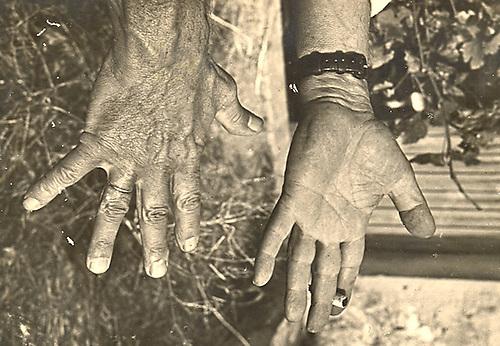 """Les Mains du Maître PICASSO. Collection """"WEBER""""-Vallauris (A.-M.)-Cliché d' André Villers. Photographie Véritable"""