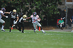 Ole Miss' Jeff Scott (3) is chased by Vanderbilt safety Javon Marshall (31) in Nashville, Tenn. on Saturday, September 17, 2011. Vanderbilt won 30-7..