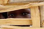Eyes of a child displaced by violence in the Darfur region of Sudan.