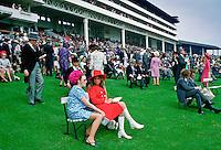 Racegoers attend the Epsom  Derby, England, United Kingdom