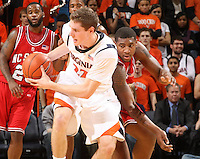 Virginia's Will Sherrill_Virginia held North Carolina State scoreless for more than 7 minutes on the way to a 59-47 victory Wednesday night at the John Paul Jones Arena in Charlottesville, VA. Virginia (14-6, 5-2 Atlantic Coast Conference) regained a share of first place in the conference. (Photo/Andrew Shurtleff)....
