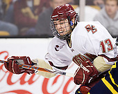 Cam Atkinson (BC - 13) - The Boston College Eagles defeated the Merrimack College Warriors 5-3 to win the Hockey East championship for the tenth time on Saturday, March 19, 2011, at TD Garden in Boston, Massachusetts.