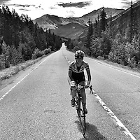 Ascending the eastern approach to Independence Pass, between Twin Lakes and Aspen, Colorado.
