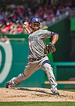27 April 2014: San Diego Padres pitcher Ian Kennedy on the mound against the Washington Nationals at Nationals Park in Washington, DC. The Padres defeated the Nationals 4-2 to to split their 4-game series. Mandatory Credit: Ed Wolfstein Photo *** RAW (NEF) Image File Available ***