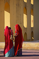 Local visitors to the Jantar Mantar  a collection of architectural astronomical instruments, built by Sawai Jai Singh who was a Rajput king.