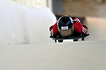 12 December 2006: Carla Pavan, from Canada, slides down a straightaway during a training run in preparation for the World Cup Skeleton Competition at the Olympic Sports Complex on Mount Van Hoevenburg  in Lake Placid, New York, USA.&amp;#xA;&amp;#xA;Mandatory Photo credit: Ed Wolfstein Photo<br />