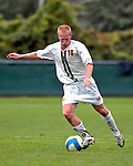17 October 2007: The University of Vermont Catamounts' Loren Hill, a Senior from Eugene, OR, in action against the University of Maryland Retreivers at Historic Centennial Field in Burlington, Vermont. The Catamounts and Retrievers battled to a scoreless, double-overtime tie...Mandatory Photo Credit: Ed Wolfstein Photo