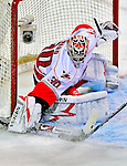 21 December 2008: Carolina Hurricanes' goaltender Cam Ward in action during the first period against the Montreal Canadiens at the Bell Centre in Montreal, Quebec, Canada. The Hurricanes defeated the Canadiens 3-2 in overtime. ***** Editorial Sales Only ***** Mandatory Photo Credit: Ed Wolfstein Photo