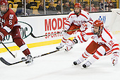 (Ford, Coyle) Chris Connolly (BU - 12) - The Harvard University Crimson defeated the Boston University Terriers 5-4 in the 2011 Beanpot consolation game on Monday, February 14, 2011, at TD Garden in Boston, Massachusetts.
