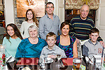 Enjoying a family get together at the Brogue Inn on Saturday were Pictured front l-r Jana Litchfield, Noreen Litchfield, Ben Litchfield, Brenda Litchfield, Cillian Litchfield, Back  Eimear Litchfield, Jimmy Litchfield, Jim Litchfield