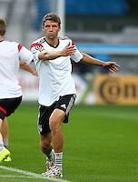 Thomas Muller of Germany during training ahead of tomorrow's semi final vs Brazil