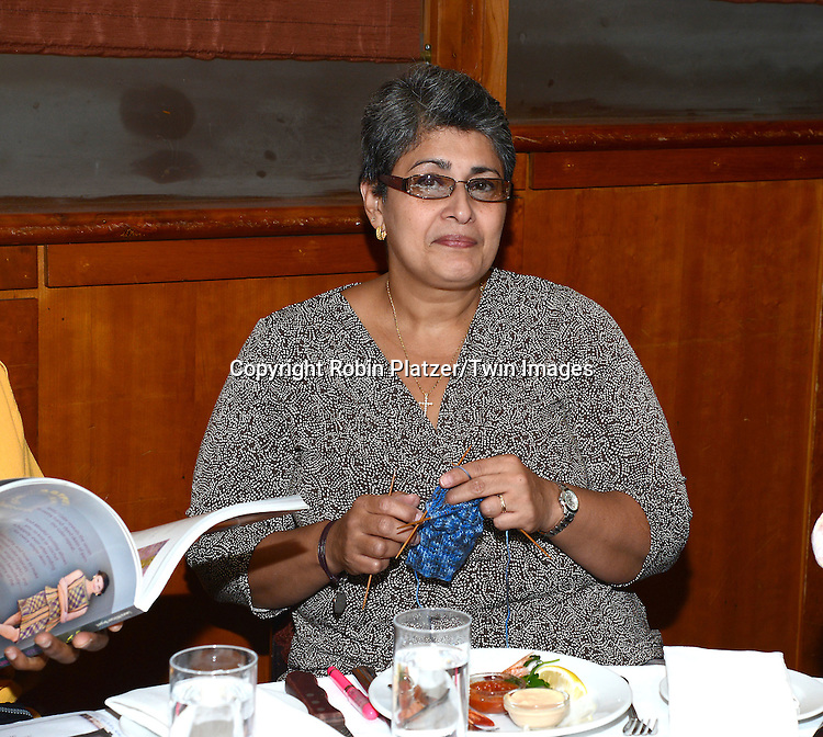 luncheon guest attends the Big Apple Knitters Guild Luncheon on September 20, 2014 at Maloney &amp; Porcelli in New York City. <br /> <br /> photo by Robin Platzer/Twin Images<br />  <br /> phone number 212-935-0770