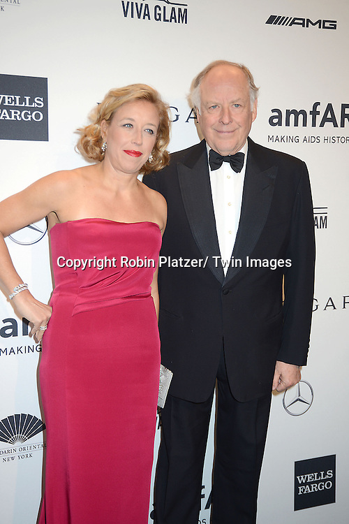 Nicola Bulgari and wife attends the amfAR New York Gala on February 5, 2014 at Cipriani Wall Street in New York City.