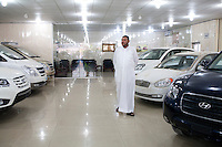 Car salesman Salam Septi inside the Hyundai dealership where he works on Friday, October 22, 2010 in Basrah, Iraq.