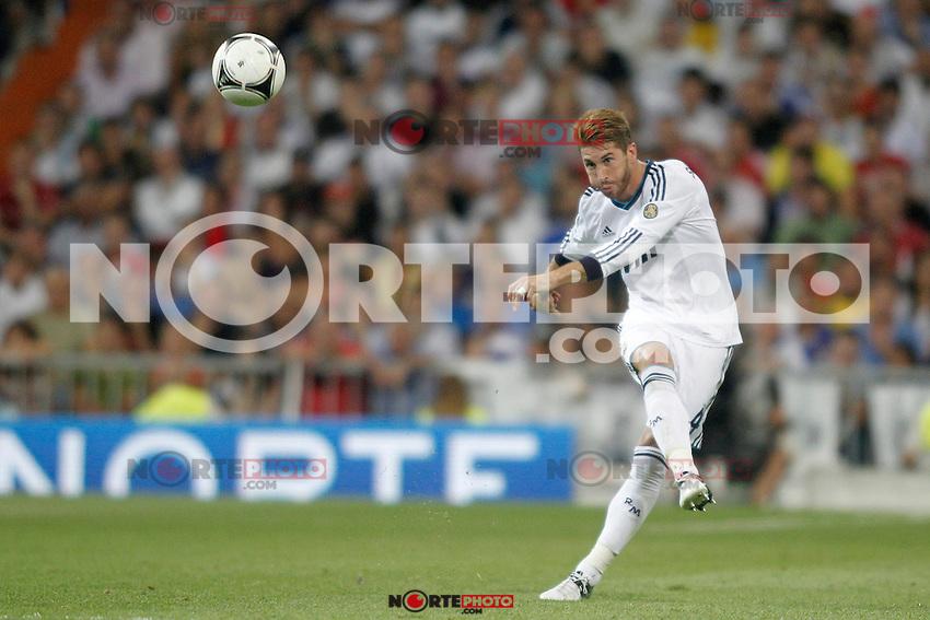 Real Madrid's  Sergio Ramos during Super Copa of Spain on Agost 29th 2012...Photo:  (ALTERPHOTOS/Ricky) Super Cup match. August 29, 2012. <br />  (foto:ALTERPHOTOS/NortePhoto.com<br /> <br /> **CREDITO*OBLIGATORIO** <br /> *No*Venta*A*Terceros*<br /> *No*Sale*So*third*<br /> *** No*Se*Permite*Hacer*Archivo**<br /> *No*Sale*So*third*