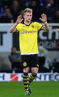 FUSSBALL   1. BUNDESLIGA   SAISON 2012/2013   17. SPIELTAG   TSG 1899 Hoffenheim - Borussia Dortmund      16.12.2012           JUBEL Borussia Dortmund; Marco Reuss