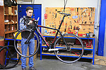 General Manager Isabelle shows us around the Thompson Bikes factory in Leissens, Flanders, Belgium. 23rd March 2017.<br /> Picture: Eoin Clarke | Cyclefile<br /> <br /> <br /> All photos usage must carry mandatory copyright credit (&copy; Cyclefile | Eoin Clarke)