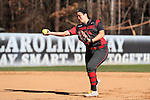 19 February 2017: Ohio State's Ashley Goodwin. The Ohio State University Buckeyes played the University of Louisville Cardinals at Anderson Family Softball Stadium in Chapel Hill, North Carolina as part of the ACC/Big 10 College Softball Challenge. OSU won the game 4-3.