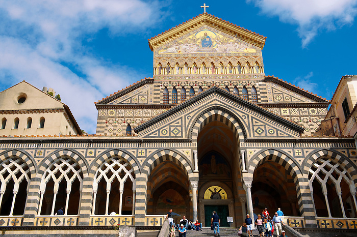 The  front of the Amalfi Cathedral, Italy