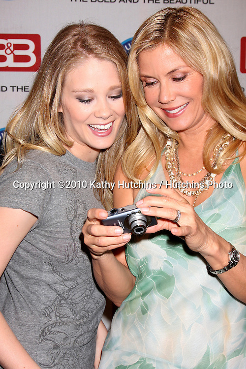 "Kimberly Matula & Katherine Kelly Lang.Guinness World Records®  presents THE BOLD AND THE BEAUTIFUL with the certification as the  ""Most Popular Daytime TV Soap - Current..Bold & Beautiful Set, Stage 31, CBS Televsion CIty.Los Angeles, CA.May 18, 2010.©2010 Kathy Hutchins / Hutchins Photo.."