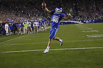 Tight end Jordan Aumiller celebrates a touchdown during the first half of UK's home game against Auburn, Oct. 9, 2010. Photo by Brandon Goodwin| Staff