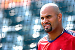 28 February 2007: St. Louis Cardinals first baseman Albert Pujols prepares to take batting practice prior to facing the Florida Marlins on Opening Day for Spring Training at Roger Dean Stadium in Jupiter, Florida.<br /> <br /> Mandatory Photo Credit: Ed Wolfstein Photo