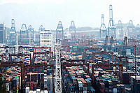 Container port, Hong Kong, China