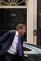 26.09.2014 - PM David Cameron Arrives at Downing St during Parliament debate on Airstrikes in Iraq