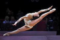 August 9, 2012; London, Great Britain; ALIYA GARAEVA of Azerbaijan performs ball routine during day 1 rhythmic gymnastics qualifications at 2012 London Olympics.