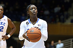 19 December 2013: Duke's Alexis Jones. The Duke University Blue Devils played the University at Albany, The State University of New York Great Danes at Cameron Indoor Stadium in Durham, North Carolina in a 2013-14 NCAA Division I Women's Basketball game. Duke won the game 80-51.
