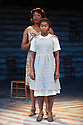THE COLOR PURPLE, THE MUSICAL opens at the Menier Chocolate Factory. Based on the novel by Alice Walker and the Warner Bros/Amblin Entertainment Motion Picture, it is directed by John Doyle. Picture shows:   Nicola Hughes (Shug Avery) and Cynthia Erivo (Celie). Photograph © Jane Hobson.