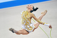 Veronica Bertolini (junior) of Italy performs with rope at 2010 Pesaro World Cup on August 27, 2010 at Pesaro, Italy.  Photo by Tom Theobald.