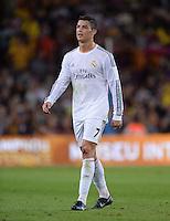 FUSSBALL  INTERNATIONAL  PRIMERA DIVISION  SAISON 2013/2014   10. Spieltag  El Clasico   FC Barcelona - Real Madrid         26.10.2013 Cristiano Ronaldo (Real Madrid) nachdenklich
